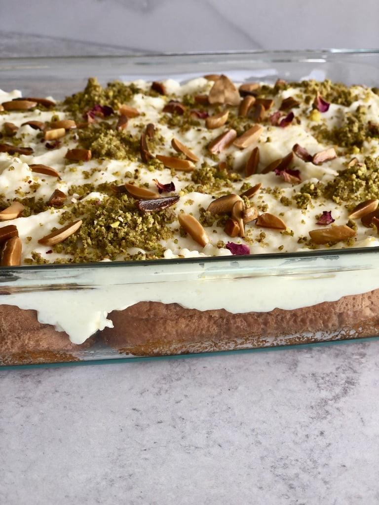 aish el-saraya with ashta cream