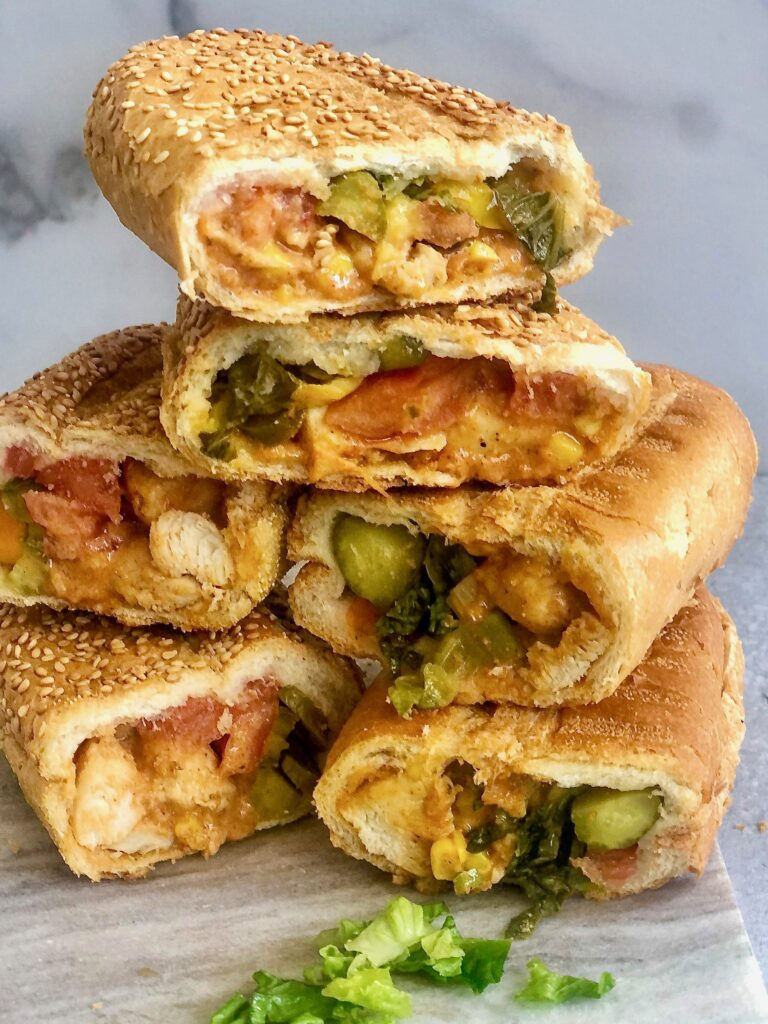 Simple Grilled Chicken Sub Sandwich is so delicious with mayo and lots of vegetables