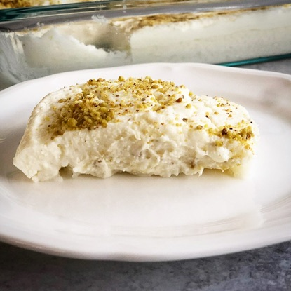 Halawet El Riz a decadent layered dessert of rice, cheese and ashta! A cousin to the well known Middle Easter Dessert, Halawet El Jibn
