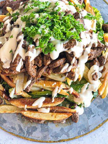 Stacked Beef Shawarma Salad