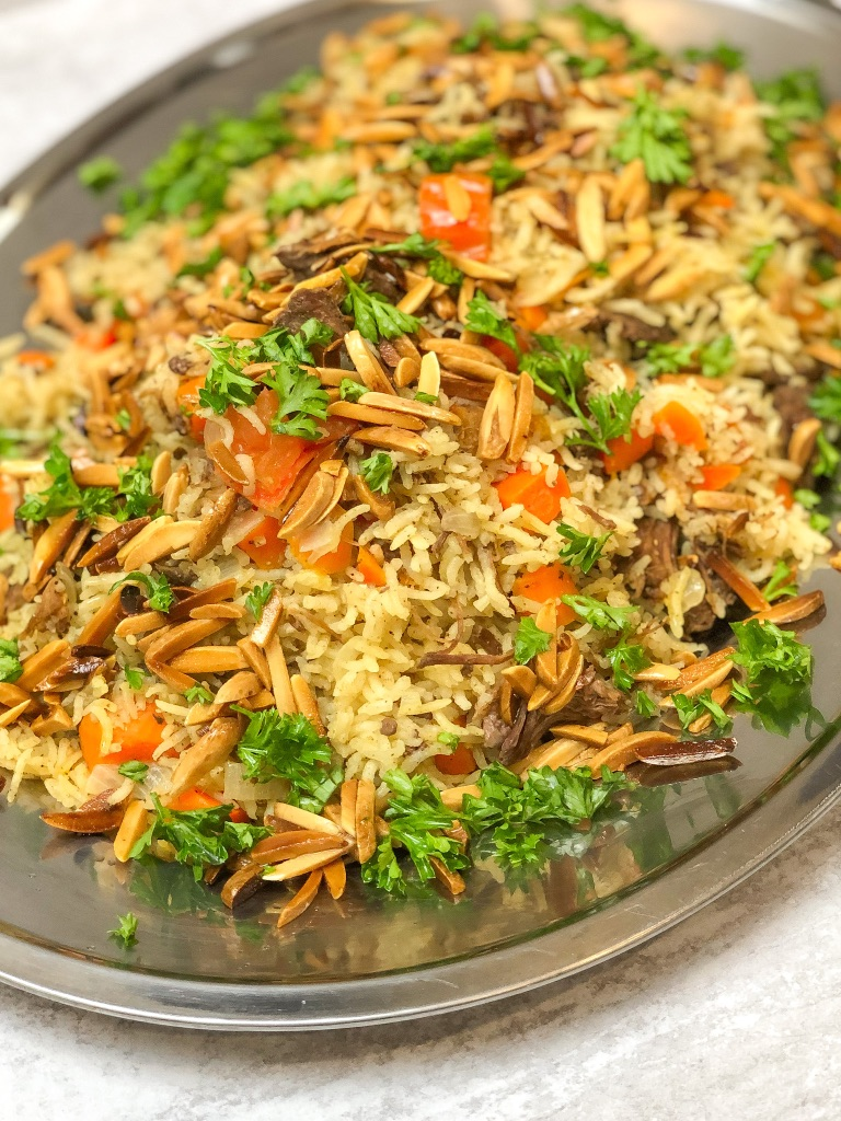 arabic food kabsa, how to cook kabsa, saudi rice, saudi arabian rice, saudi arabia recipes,