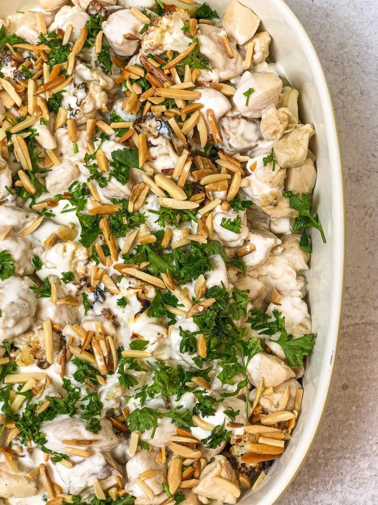 Cauliflower Tahini Bake