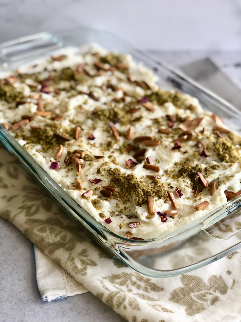 Aish El saraya with ashta cream