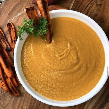 Carrot Sweet Potato Thai Soup