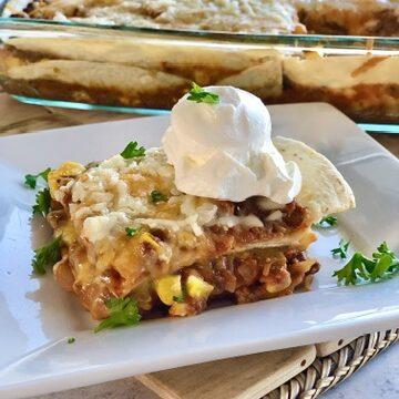 The Best Bean Taco Pie