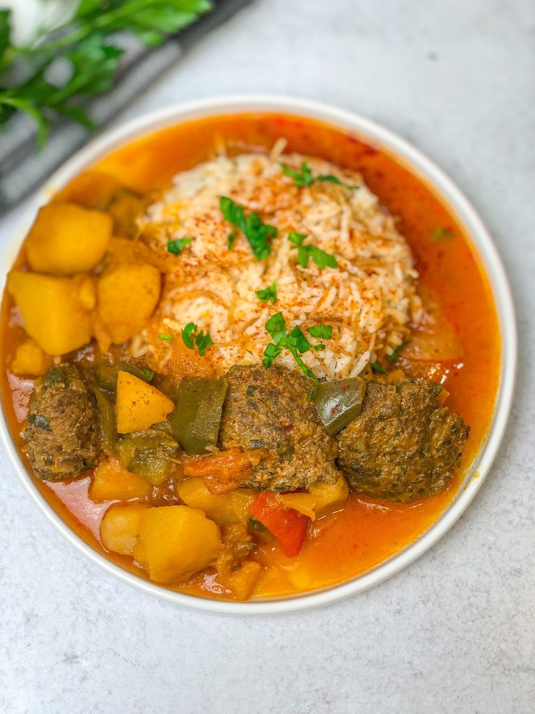 Hearty Kafta and Potato Stew