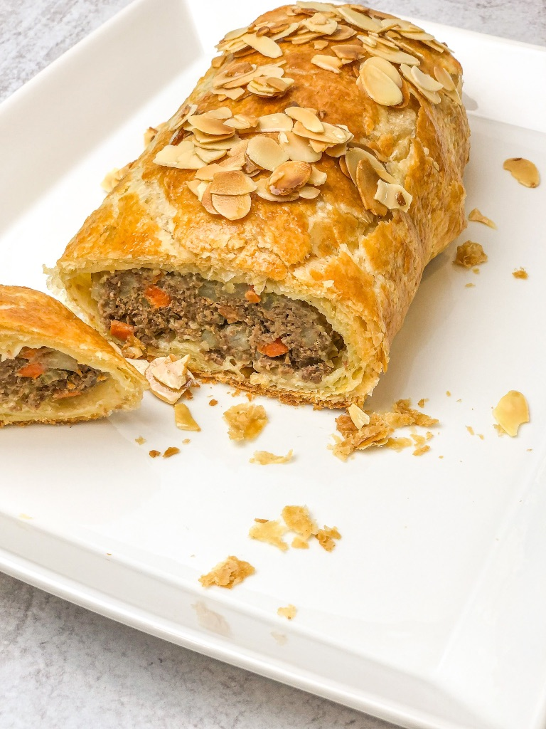 Meat and Veggie Wellington Roll