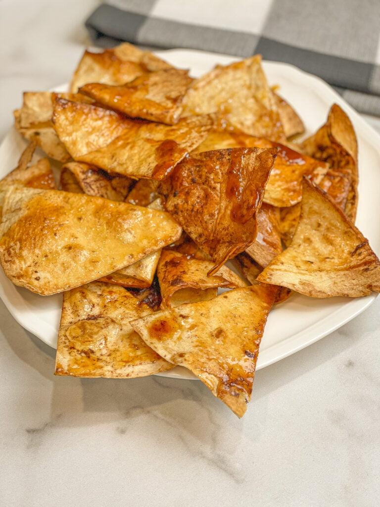 Air Fried Honey Cinnamon Tortilla Chips