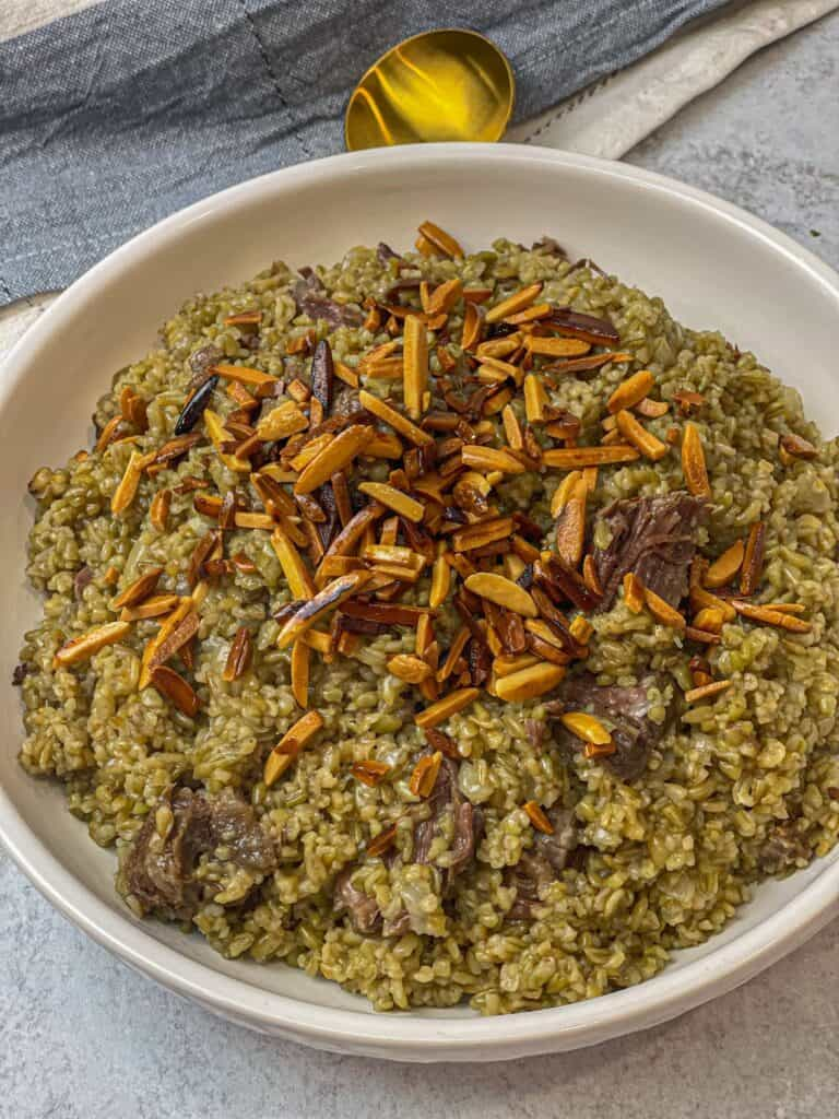 Instant pot freekeh with beef shanks healthy and filling