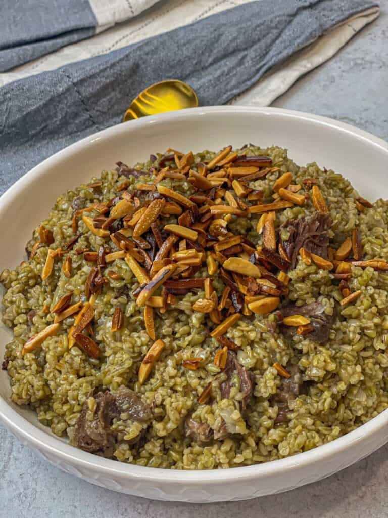 Warm Hearty Freekeh with Beef Shanks
