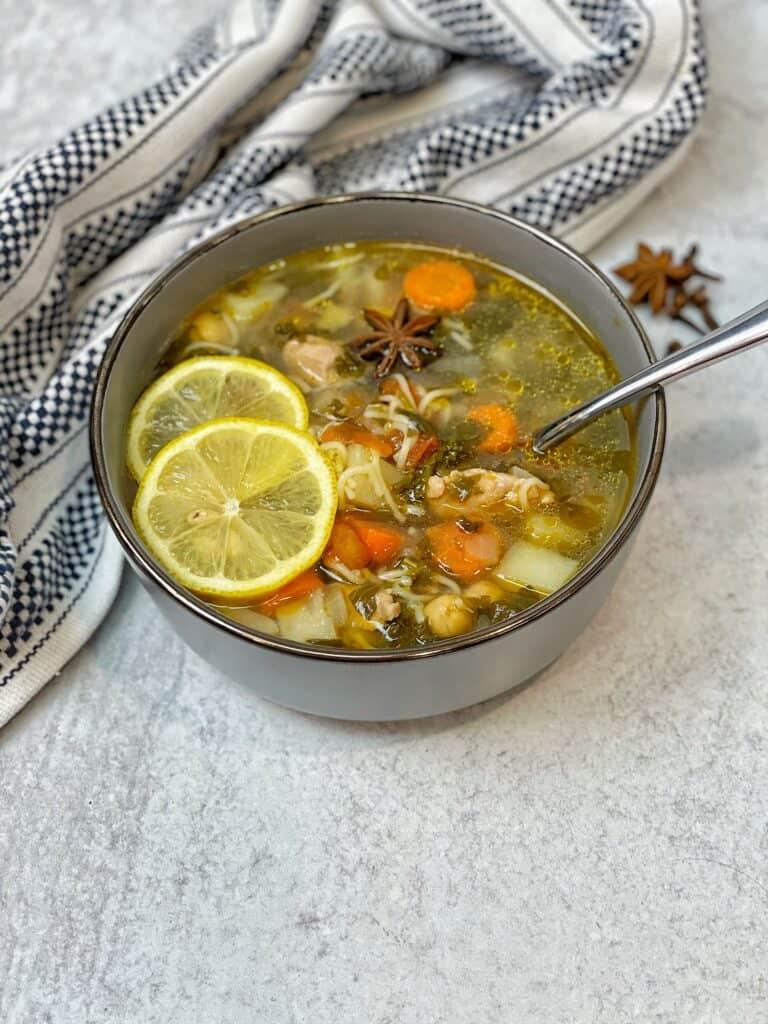 homemade chicken soup , medicinal chicken soup , medicinal soup