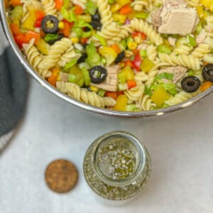 Healthy Pasta Salad with Dressing