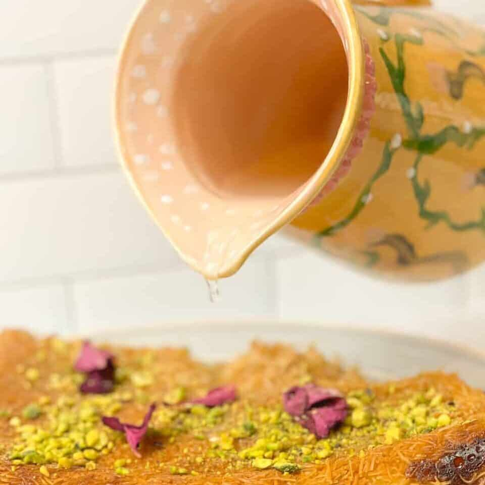 Ater, Atyr, Atir, or Attar is an easy sugar simple syrup that pairs well on so many different dessert options.