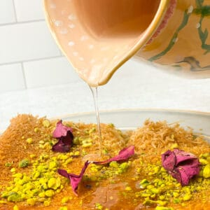 Simple syrup also known as Ater is used over middle eastern desserts like kanafa, ashta, atayif, kunafa and so many more