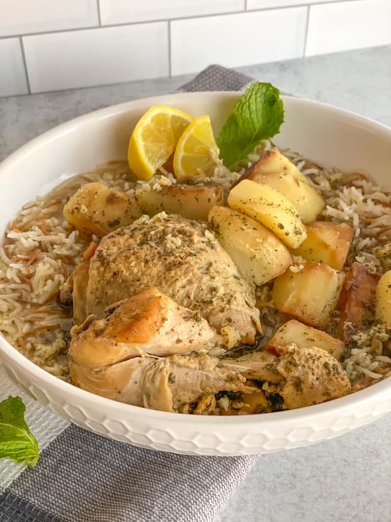 Chicken and Potato stew with a twist. Yummy lemon mint garlic stew with perfectly cooked chicken and potatoes is the most satisfying thing in the world