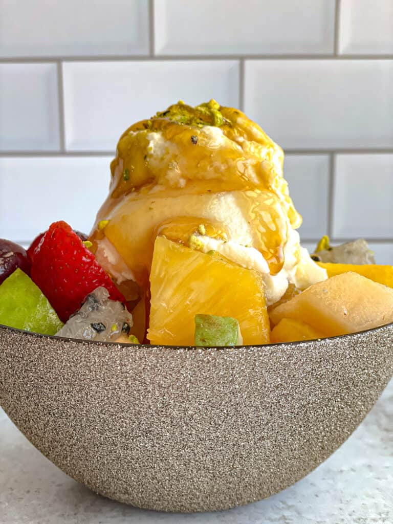 Making a Fresh Fruit Salad that satisfies your sweet tooth is quick and easy.