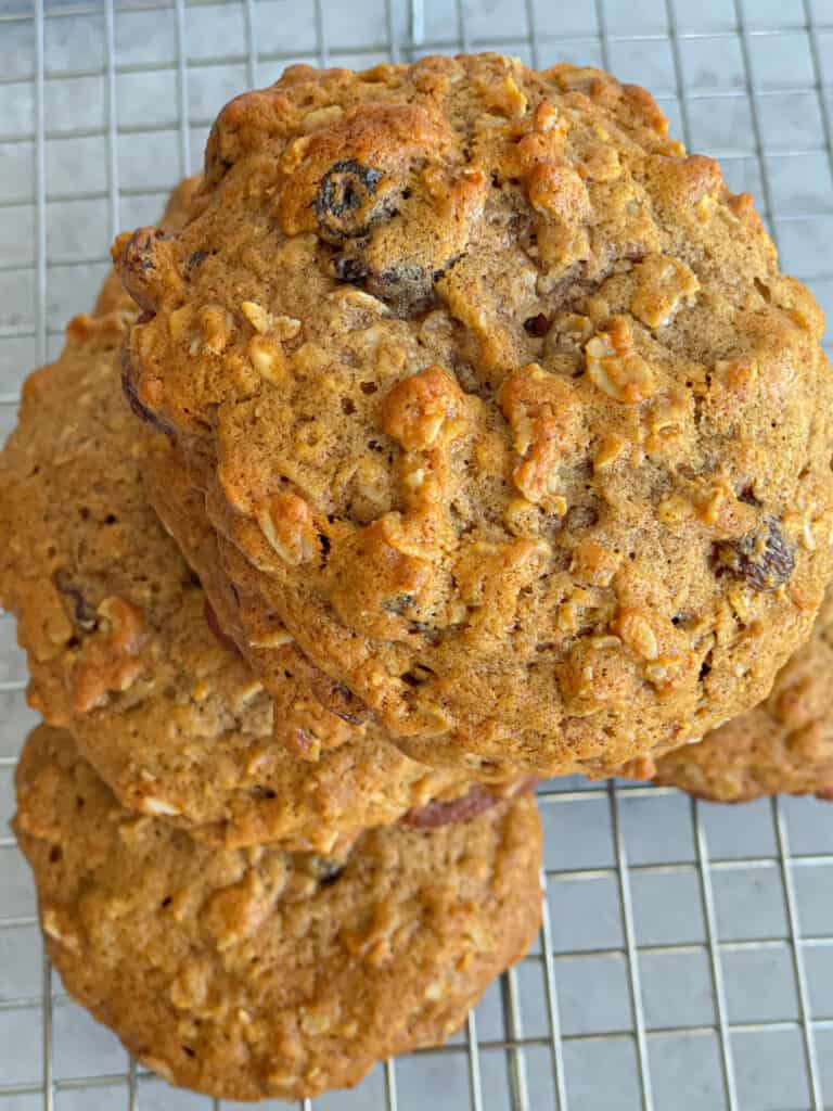 These oatmeal raisin cookies can be enjoyed with a variety of drinks, or even side snacks!