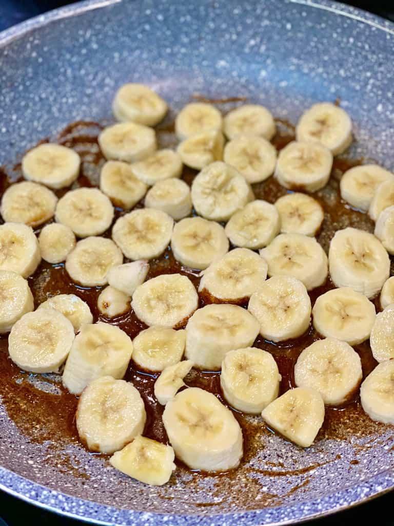 Pan fried honey cinnamon bananas