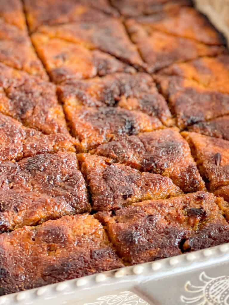 easy sweet potato mix with sweet and delicious walnut filling using rose and blossom water. crisp, healthy, light. sweet potato casserole dessert; pecans