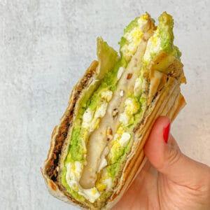 Viral folded tortilla trend