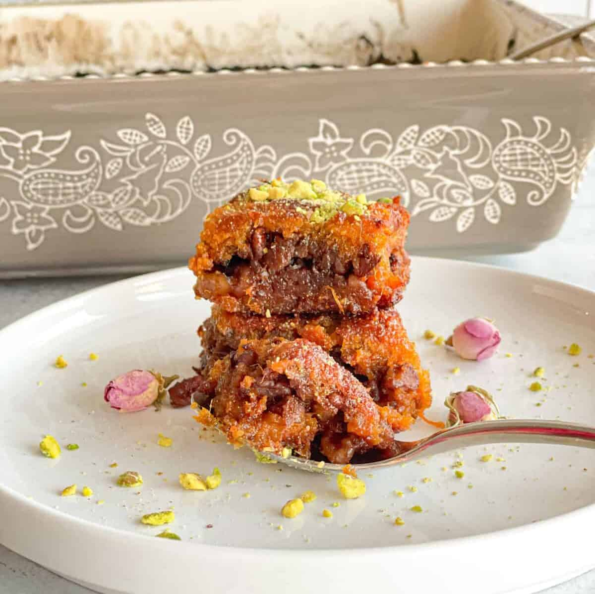Yummy and simple Sweet Potato Walnut Bars that are delicious and can be prepared ahead of time and stored in the freezer