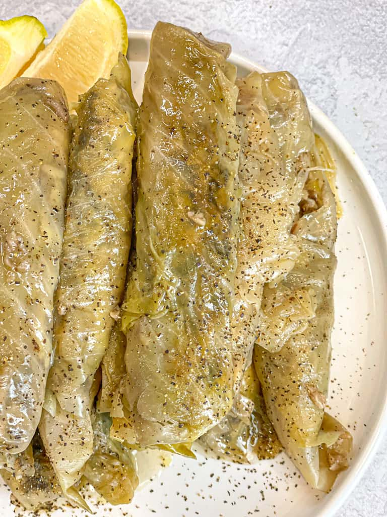 stuffed cabbage recipe also known as malfoof or malfouf.  This is how to make cabbage rolls
