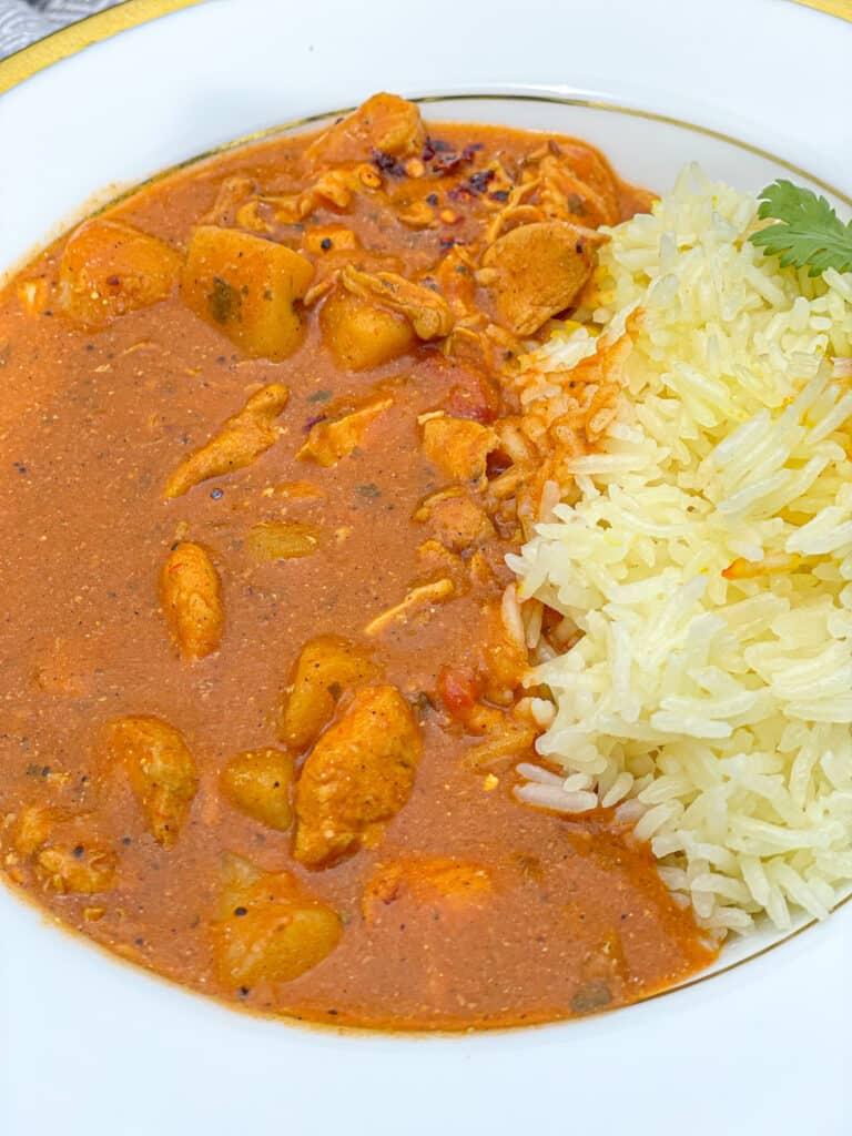 traditional chicken tikka masala made with Indian chicken, tikka masala paste