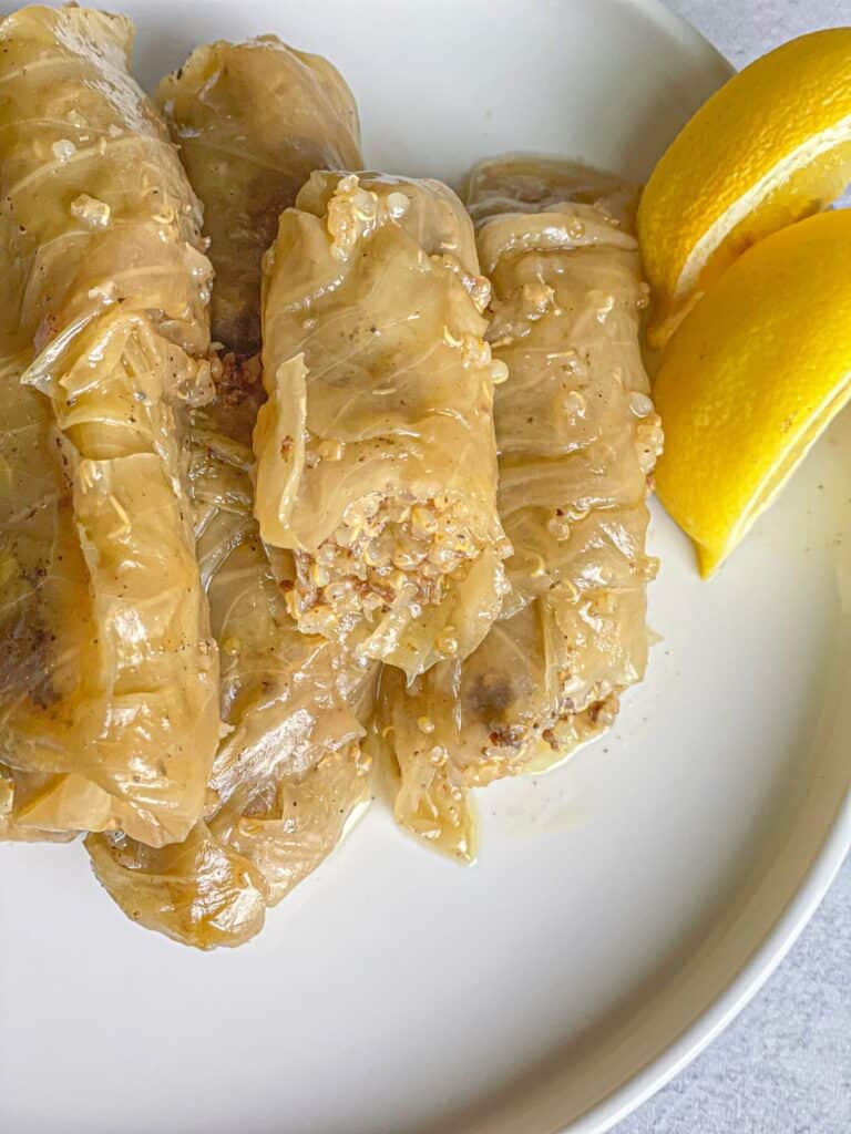 An easy take on a classic stuffed cabbage recipe, this quinoa stuffed cabbage is simple, delicious, and healthy!