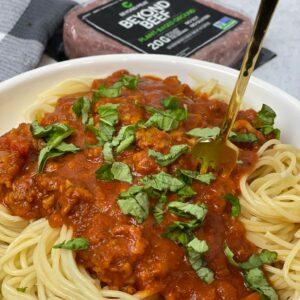 Easiest Vegan Spaghetti Bolognese