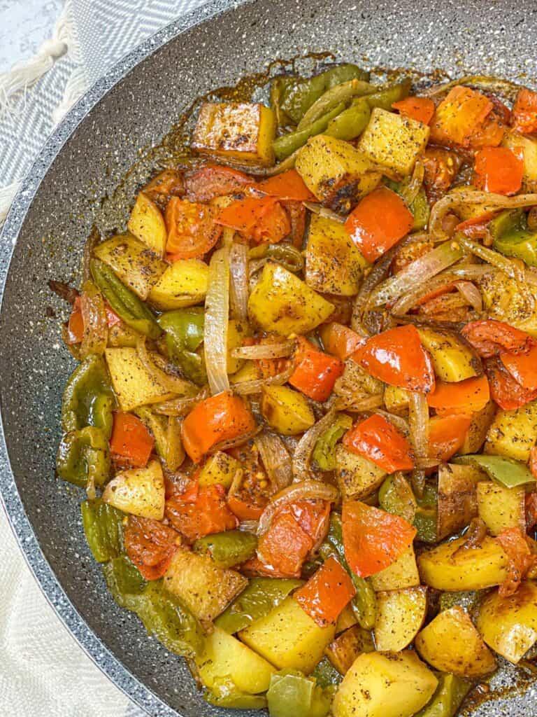 onion potato stovetop skillet