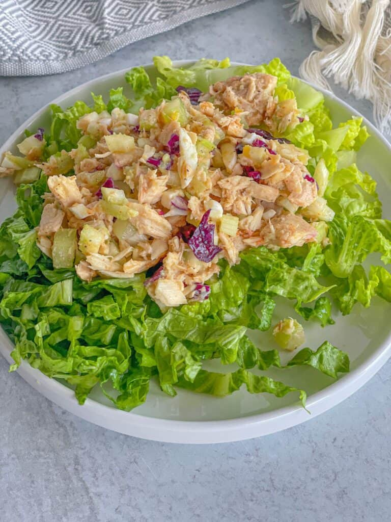 tuna salad with lettuce