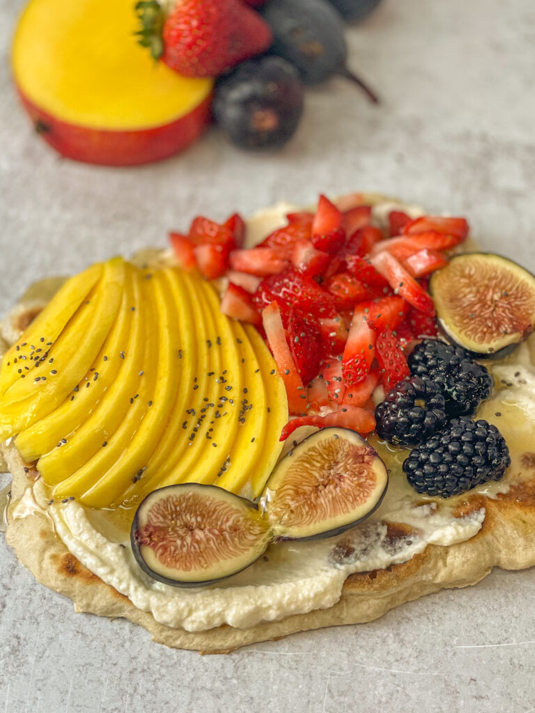 fruit & ricotta flatbread