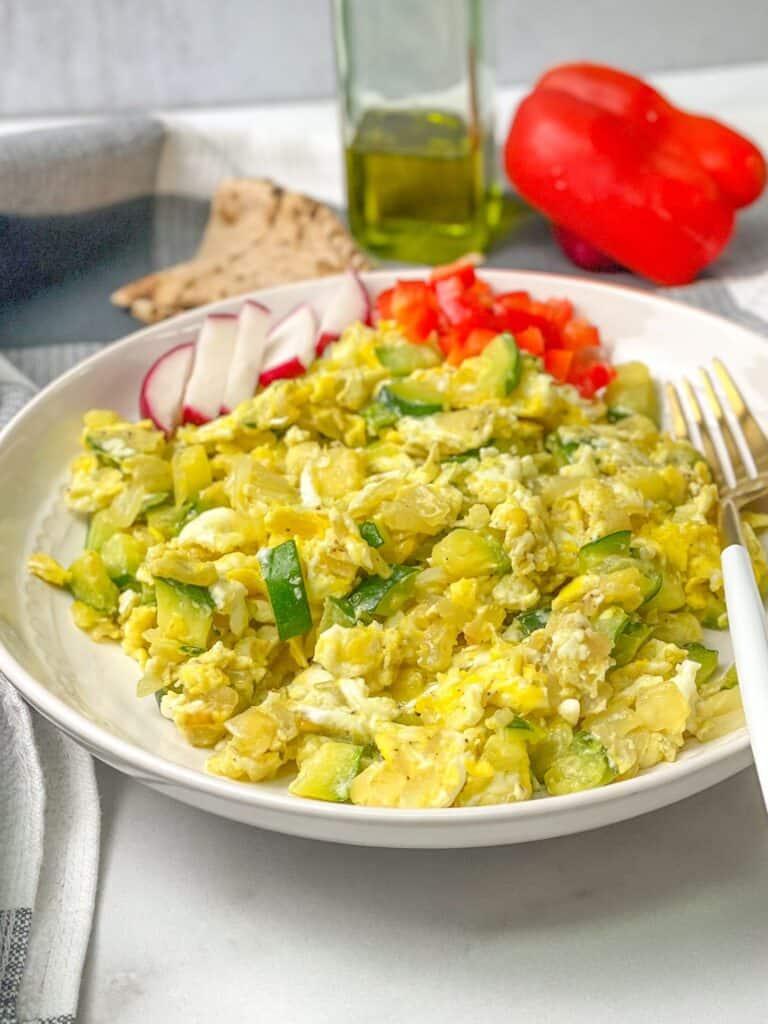 zucchini scrambled eggs healthy breakfast skillet gluten free