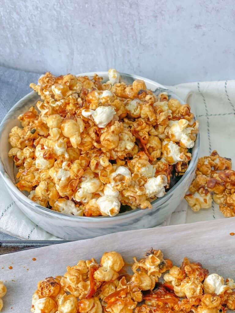 Easy homemade Caramel Popcorn