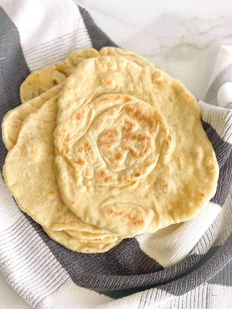 These flat breads are perfect with spreads like Labneh, Nutella, jam and other toppings like zaatar and cheese.